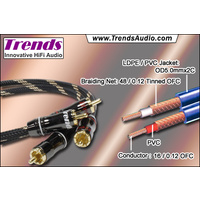 TRENDS AUDIO CQ-121 Audiophile audio cables 0.47m pair