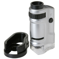 Miniature Microscope 20-40x Magnification with LED Lamp