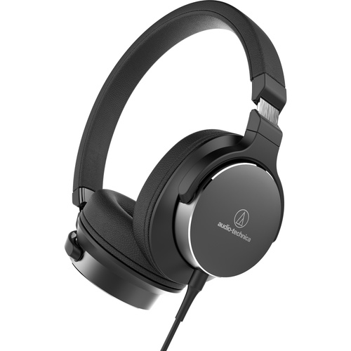 Audio Technica ATH-SR5 On-Ear High-Resolution Audio Headphones(Color:Navy/Brown)