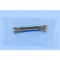 Gold plated headshell leads (set of 4)