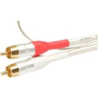White Pearl 2xRCA to 2xRCA interconnects