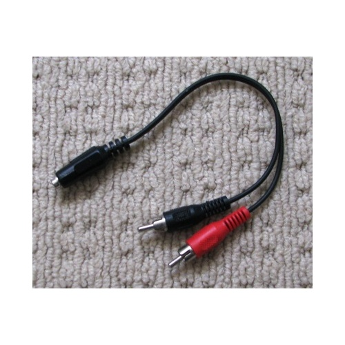 AL638 stereo RCA male plugs to 3.5mm phono socket